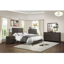 HOMELEGANCE 1806-1-9 Lavinia Queen Bed, Night Stand, Dresser, Mirror & Chest Group