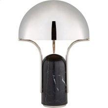 Visual Comfort KW3920BM-PN Kelly Wearstler Affinity 22 inch 40 watt Black Marble Table Lamp Portable Light in Polished Nickel, Medium Dome