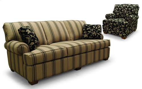 Full length sofa with attached backs and no skirt