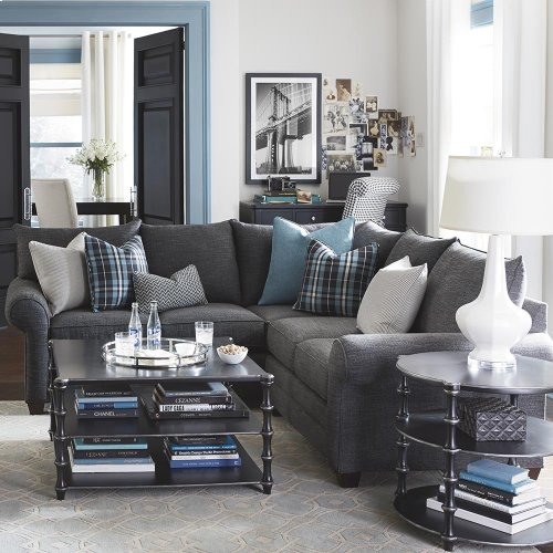 BASSETT 3989-66-FC144SS Alex L-Shaped Sectional Sofa
