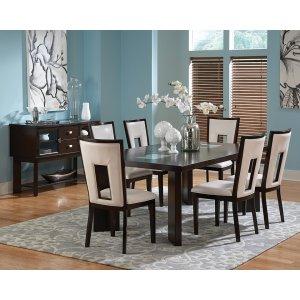 "Steve Silver Co.Delano Table, 44""x60""x78"" w/ 18 "" Leaf"