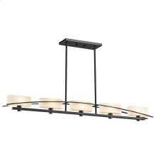 Suspension Collection Suspension 5 Light Halogen Linear Chandelier - BK