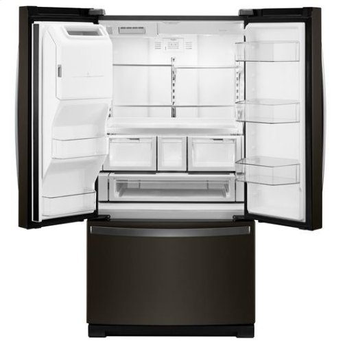 Whirlpool® 36-inch Wide French Door Refrigerator - 27 cu. ft. - Black Stainless