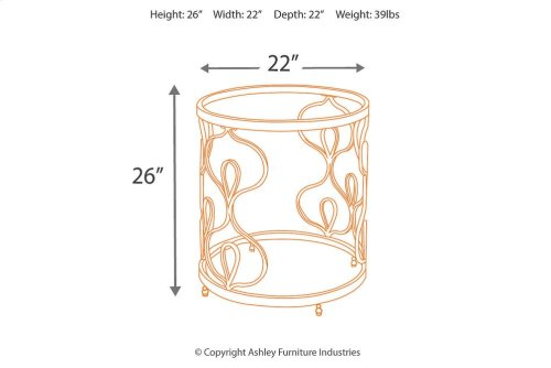 T086-6  Round End Table