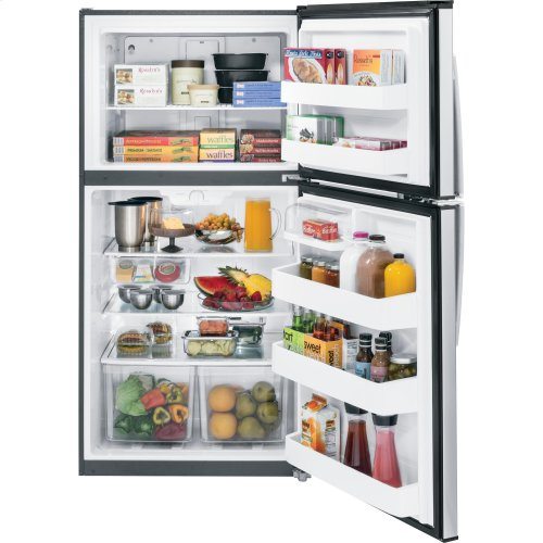 GE® ENERGY STAR® 21.1 Cu. Ft. Top-Freezer Refrigerator