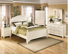 Cottage Retreat - Cream Cottage 6 Piece Bedroom Set