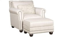 Julianna Fabric Chair, Julianna Ottoman