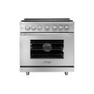 """36"""" Heritage Gas Pro Range, Silver Stainless Steel, Liquid Propane Product Image"""