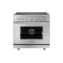 "36"" Heritage Gas Pro Range, Silver Stainless Steel, Natural Gas"