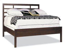King Asian Bed W/Low Panel Ftbd