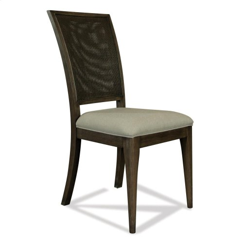 Joelle - Woven Side Chair - Carbon Gray Finish