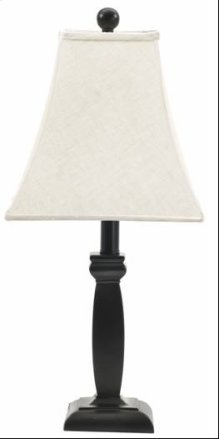 (8400) Black Wood Cut Table Lamp