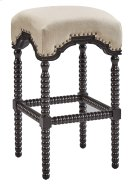 Black Backless Castle Bar Stool Product Image