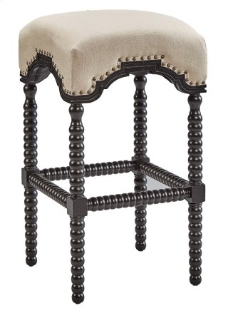 Black Backless Castle Bar Stool