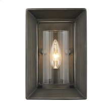 Smyth 1 Light Wall Sconce in Gunmetal Bronze with Clear Glass