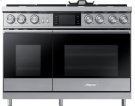 "48"" Pro Dual-Fuel Steam Range, Stainless Steel, Liquid Propane Product Image"