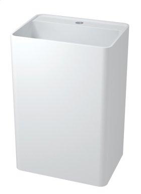 Denali free-standing rectangular basin with platform
