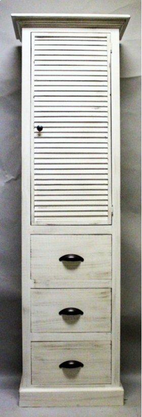 "#611 Nantucket 3 Drawer Cupboard 23.75""wx13.75""dx78""h"