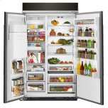 Kitchenaid 29.5 Cu. Ft 48-Inch Width Built-In Side By Side Refrigerator With Printshield Finish - Black Stainless Steel With Printshield™ Finish