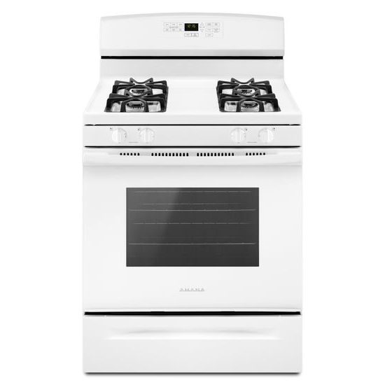 30-inch Gas Range with Self-Clean Option - white  WHITE