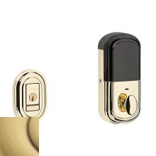 Satin Brass and Brown Evolved Traditional Deadbolt