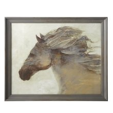 Framed Horse Wall Art with Glass