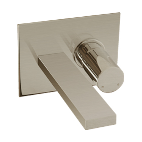 In Wall Lav Faucet - Brushed Nickel