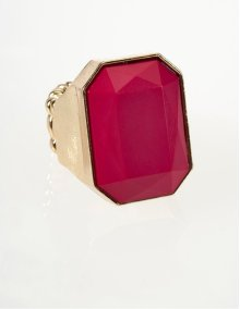 BTQ Fushia Faceted Ring