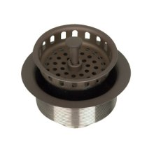 "D2000 Drain - 3.5"" Large Basket Strainer - English Bronze - Polished Nickel Silver"