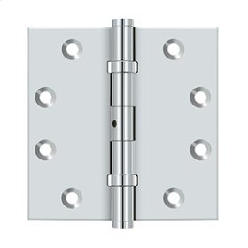 "4 1/2""x 4 1/2"" Square Hinges, Ball Bearings - Polished Chrome"