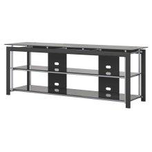 Midnight Mist 65W TV Stand for Flat Screens - Textured Black Paint