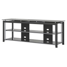 Midnight Mist 65W TV Stand for Flat Screens - Textured Black Paint