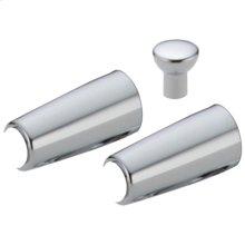 Chrome Metal Lever Handle Accent Set
