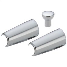 Chrome Metal Lever Handle Accent Set