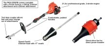 Includes a powerhead with trimmer and blower attachments
