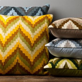 """Ikat Chevron AR-053 18"""" x 18"""" Pillow Shell with Polyester Insert"""