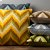 "Additional Ikat Chevron AR-053 22"" x 22"" Pillow Shell with Polyester Insert"