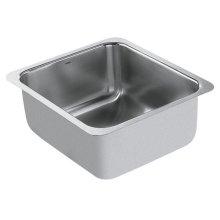 """1800 Series 16""""x18"""" stainless steel 18 gauge single bowl sink"""