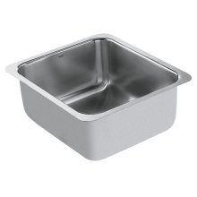 "1800 Series 16""x18"" stainless steel 18 gauge single bowl sink"