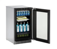 """Modular 3000 Series 18"""" Glass Door Refrigerator With Integrated Frame Finish and Field Reversible Door Swing"""