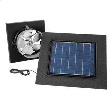 Gable Mount, Solar Powered Attic Ventilator in Black