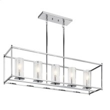 Crosby 5 Light Linear Chandelier Chrome