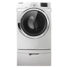 7.5 cu. ft. Capacity Electric Steam Dryer (Neat White)
