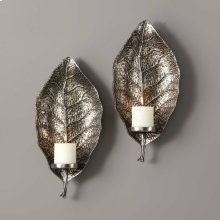 Zelkova Candle Sconces, S/2