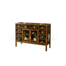 Strolling Garden Cabinet - Black Lacquered