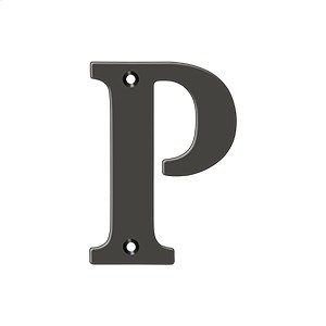 "4"" Residential Letter P - Oil-rubbed Bronze Product Image"