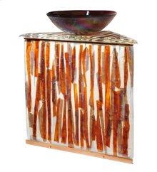 "35""H Marina Fused Glass Sink/Vanity Combo"