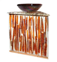 "35""H Marina Fused Glass Sink/Vanity Combo"