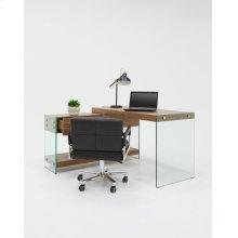 Modrest Laxson Modern Walnut & Glass Desk