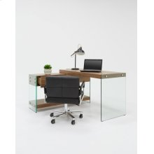 Modrest Laxson Modern Walnut & Glass Desk